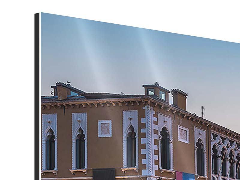 Panorama Aluminiumbild 3-teilig Romantisches Venedig