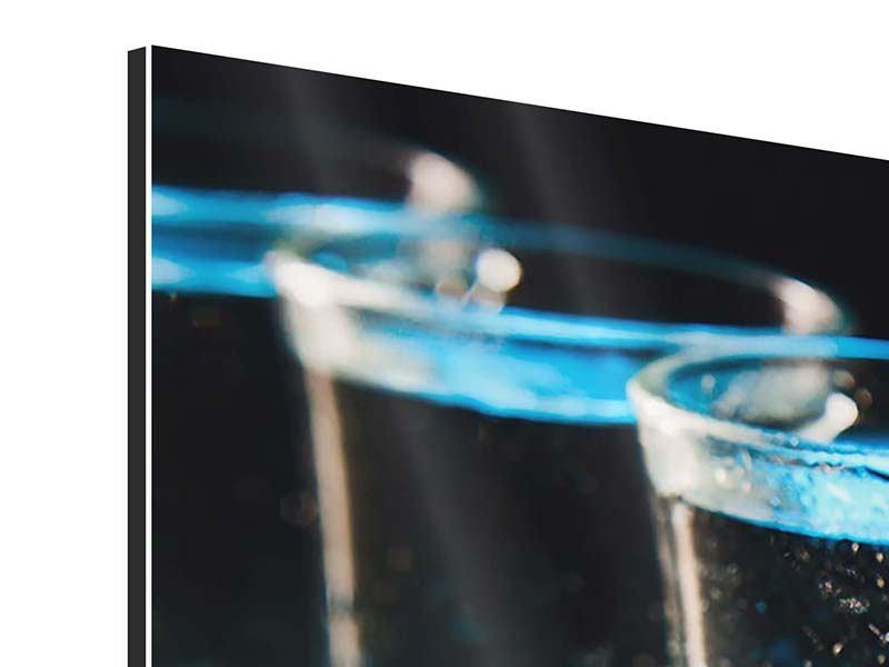 Panorama Aluminiumbild 3-teilig Wodka Pur