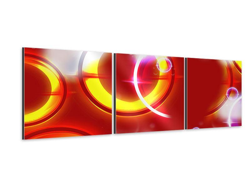 Panorama Aluminiumbild 3-teilig Abstraktes Retro