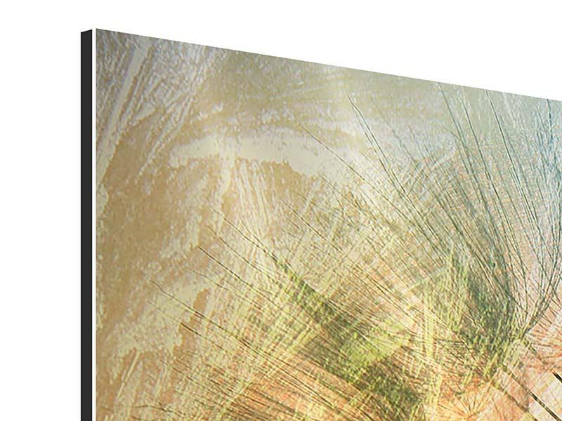Aluminiumbild 3-teilig modern XXL Pusteblume