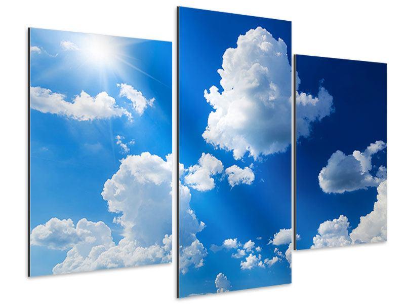 Aluminiumbild 3-teilig modern Himmelblau