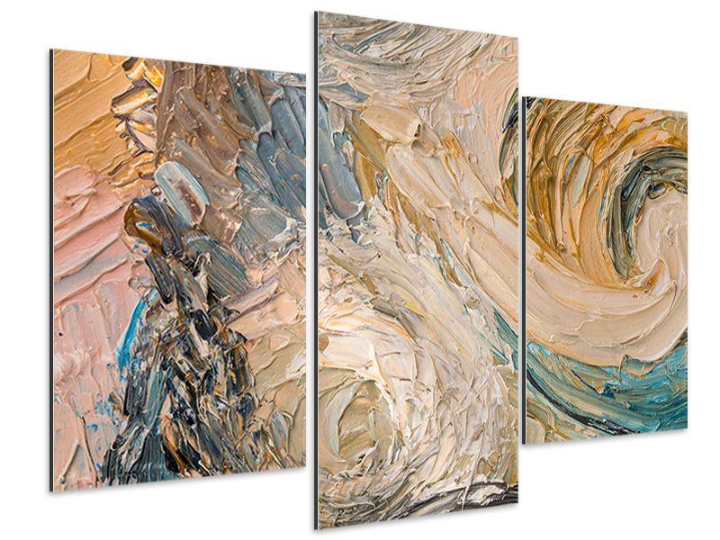Aluminiumbild 3-teilig modern Ölgemälde