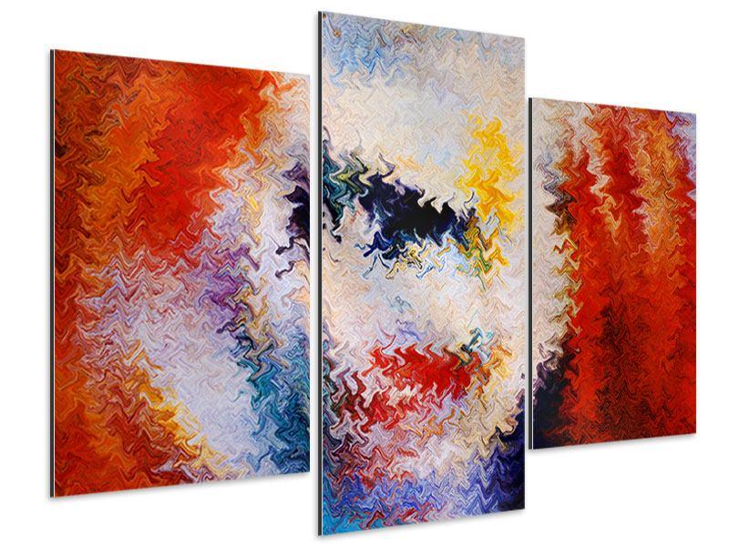 Aluminiumbild 3-teilig modern Wandmalerei