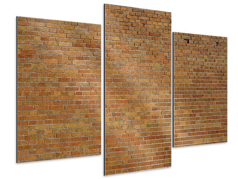 Aluminiumbild 3-teilig modern Backsteinhintergrund
