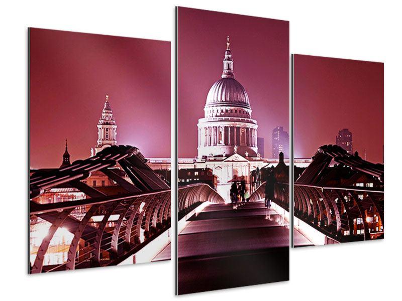 Aluminiumbild 3-teilig modern Millennium Bridge