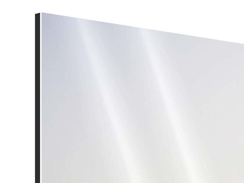 Aluminiumbild 3-teilig modern Rennstrecke