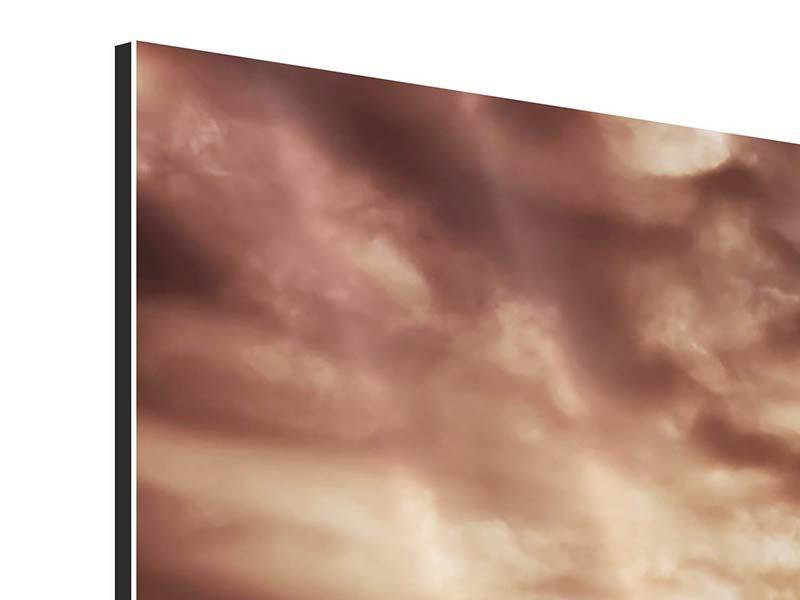 Aluminiumbild 3-teilig modern Meeresrauschen