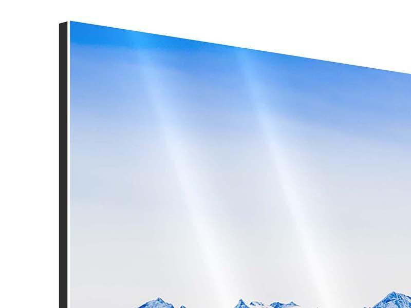 Aluminiumbild 3-teilig modern Die Schweizer Alpen