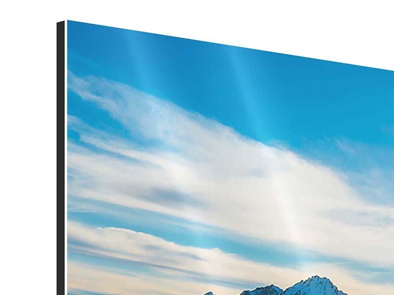 Aluminiumbild 3-teilig modern Ein Wintermärchen in den Bergen