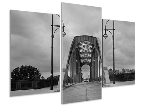 Aluminiumbild 3-teilig modern Poetische Brücke