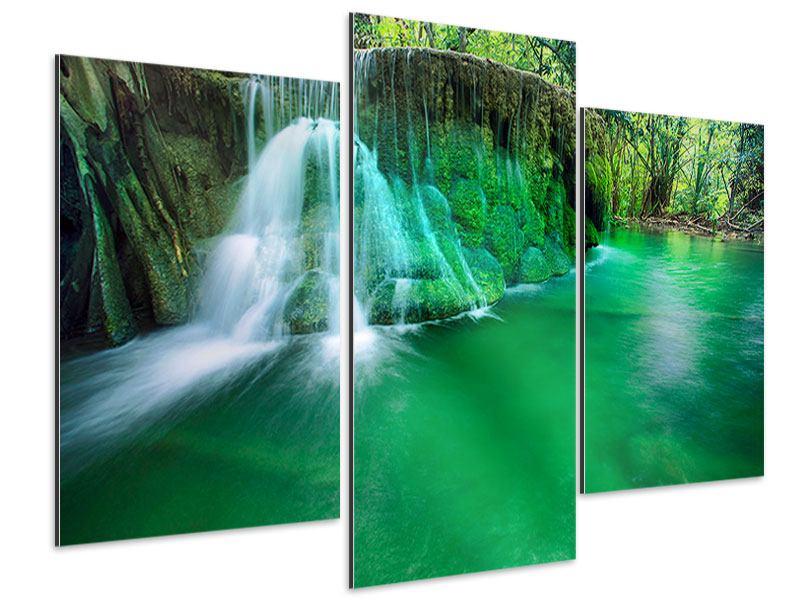 Aluminiumbild 3-teilig modern Im Paradies