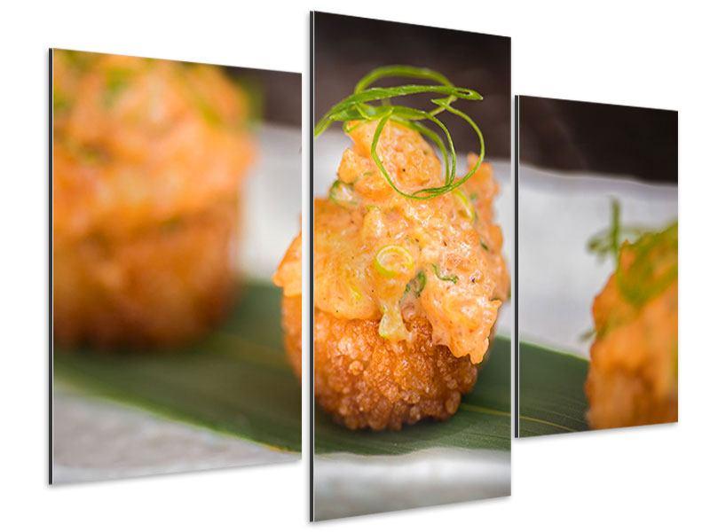 Aluminiumbild 3-teilig modern Asiatische Küche