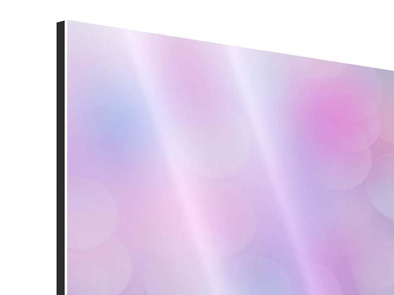 Aluminiumbild 3-teilig modern Besuch bei der Seerose