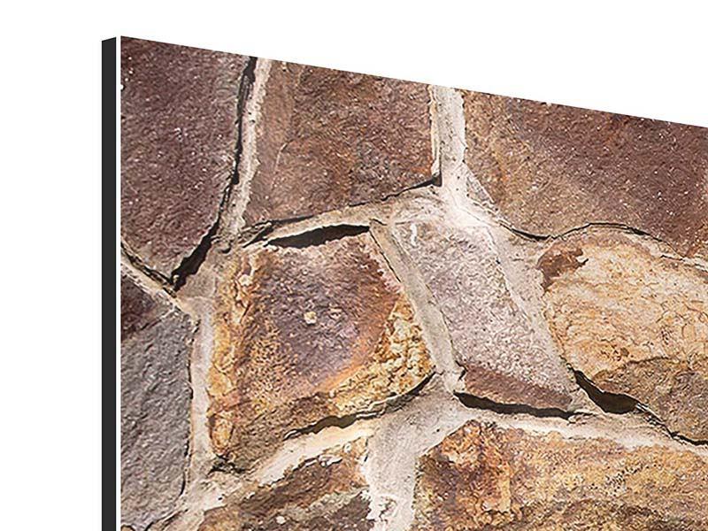 Aluminiumbild 3-teilig modern Designmauer