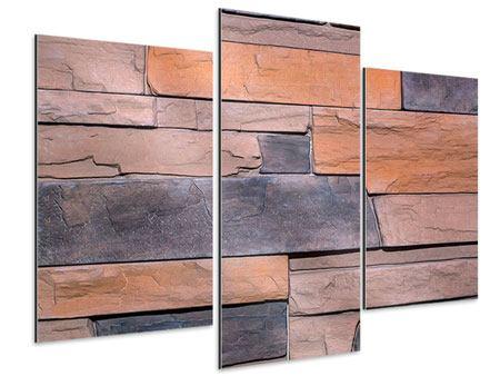 Aluminiumbild 3-teilig modern Wall