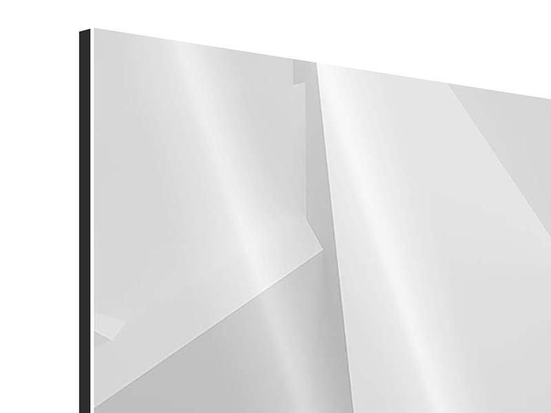 Aluminiumbild 3-teilig modern 3D-Raster