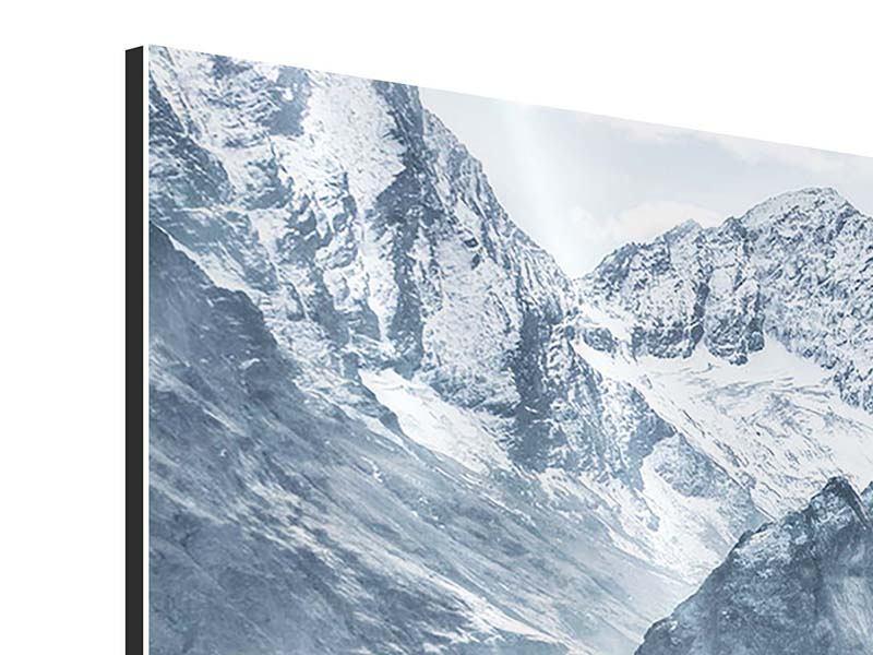 Aluminiumbild 3-teilig modern Gigantische Berggipfel