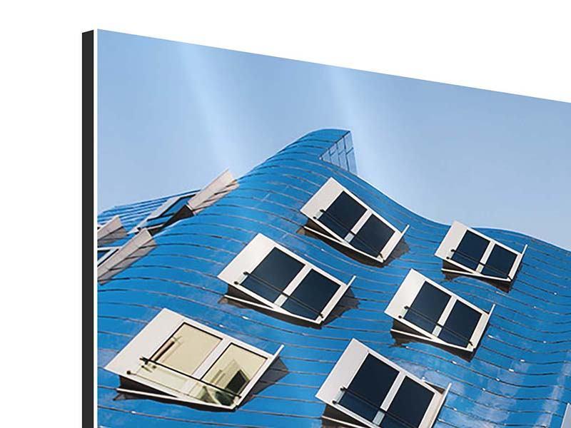 Aluminiumbild 3-teilig modern Neuer Zollhof
