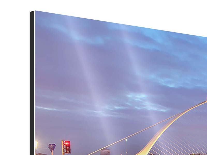 Aluminiumbild 3-teilig modern Samuel Beckett Bridge