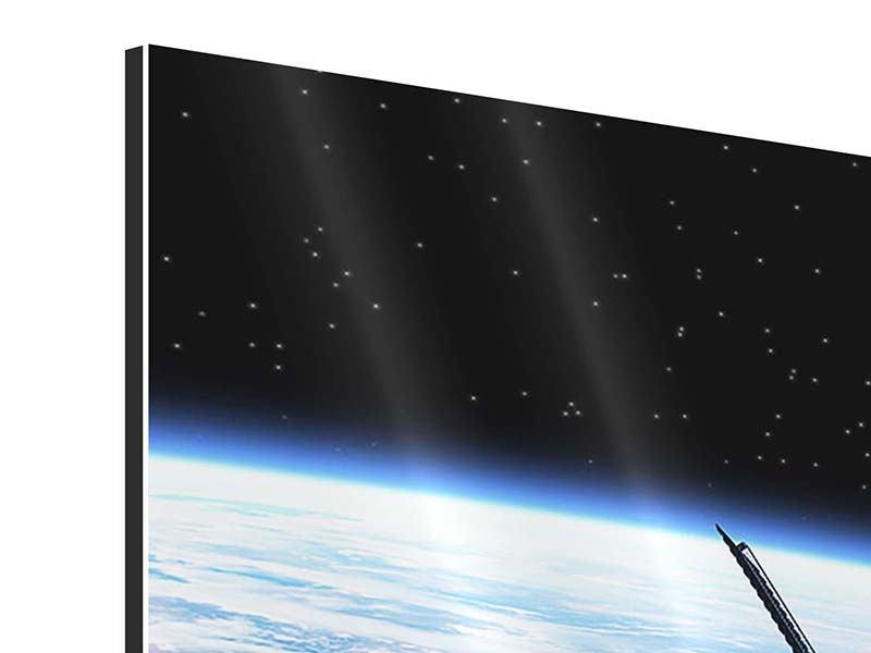 Aluminiumbild 3-teilig modern Satellit