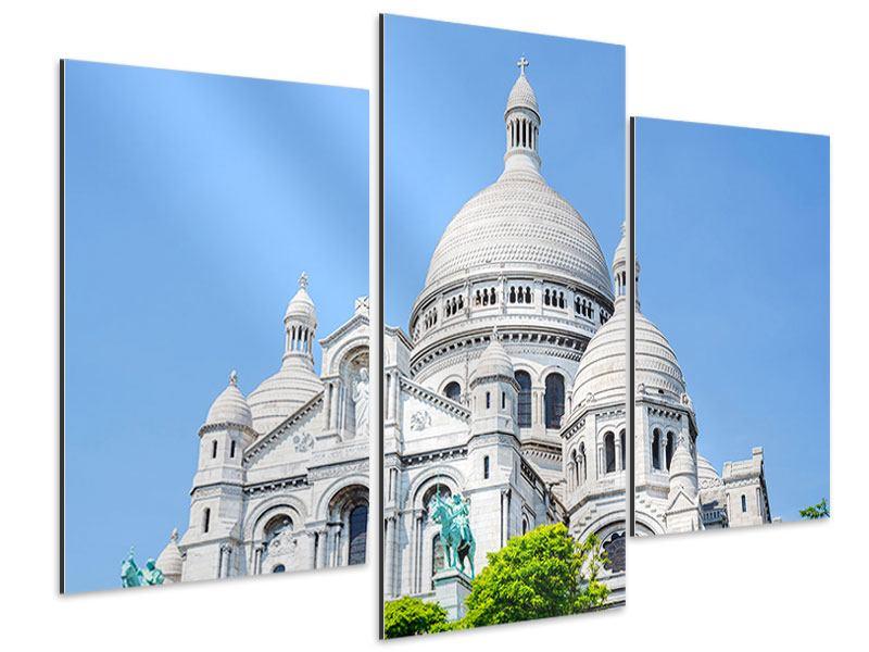 Aluminiumbild 3-teilig modern Paris- Montmartre