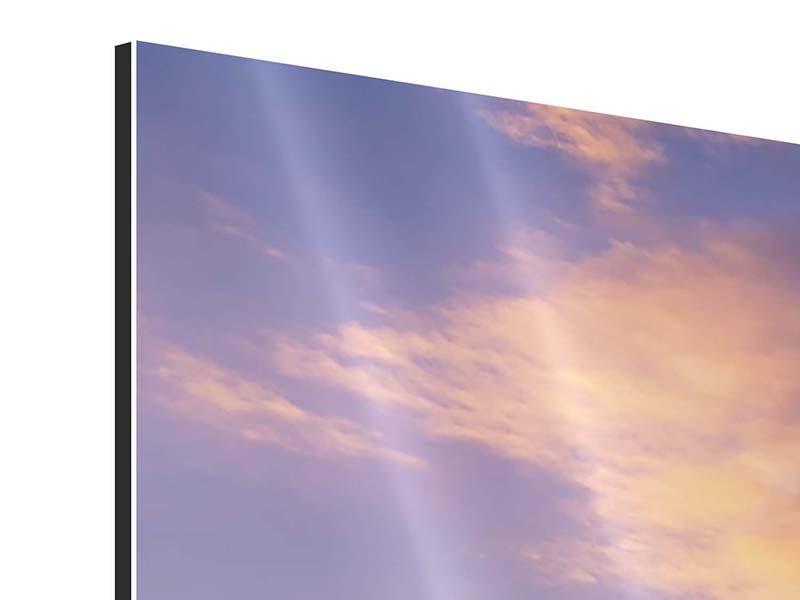 Aluminiumbild 3-teilig modern Himmlisch