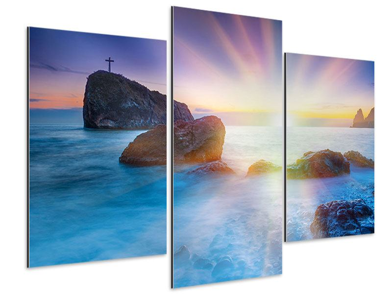 Aluminiumbild 3-teilig modern Mystisches Meer