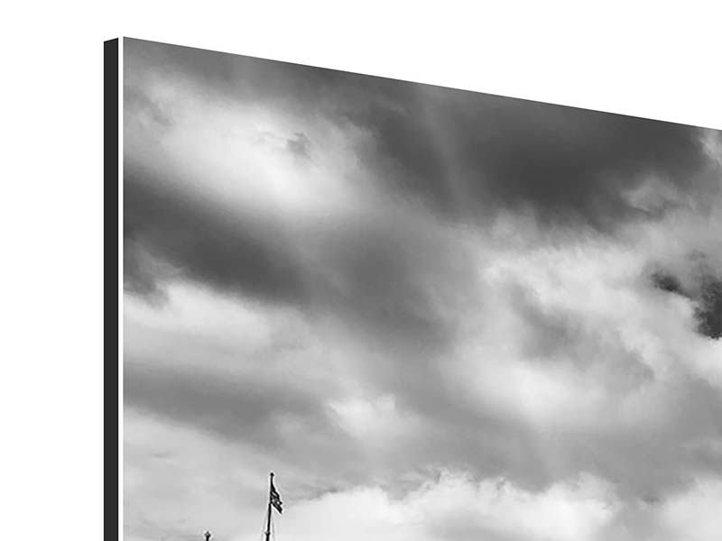 Aluminiumbild 3-teilig modern Westminster Bridge