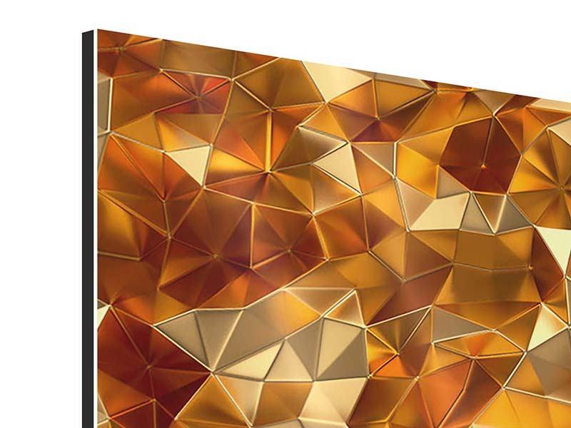 Aluminiumbild 3-teilig modern 3D-Bernsteine