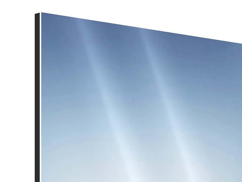 Aluminiumbild 3-teilig modern Der Tropfen