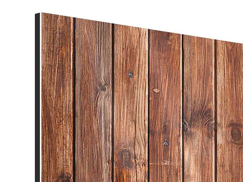 Aluminiumbild 3-teilig modern Edelholz