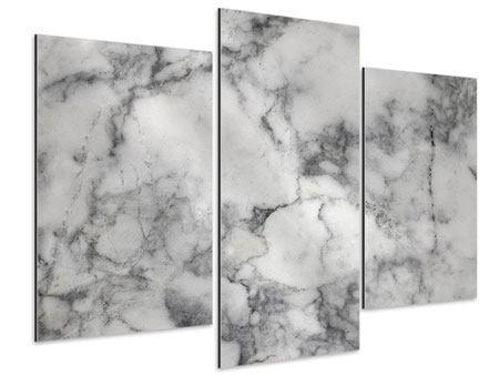 Aluminiumbild 3-teilig modern Klassischer Marmor
