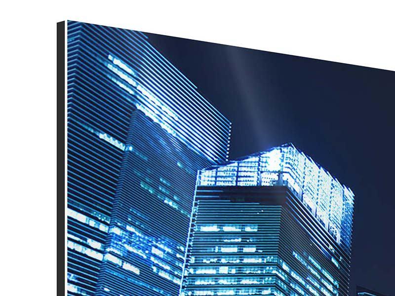 Aluminiumbild 3-teilig modern Kopenhagen
