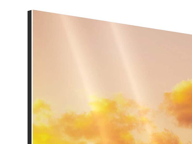 Aluminiumbild 3-teilig modern Skyline Washington