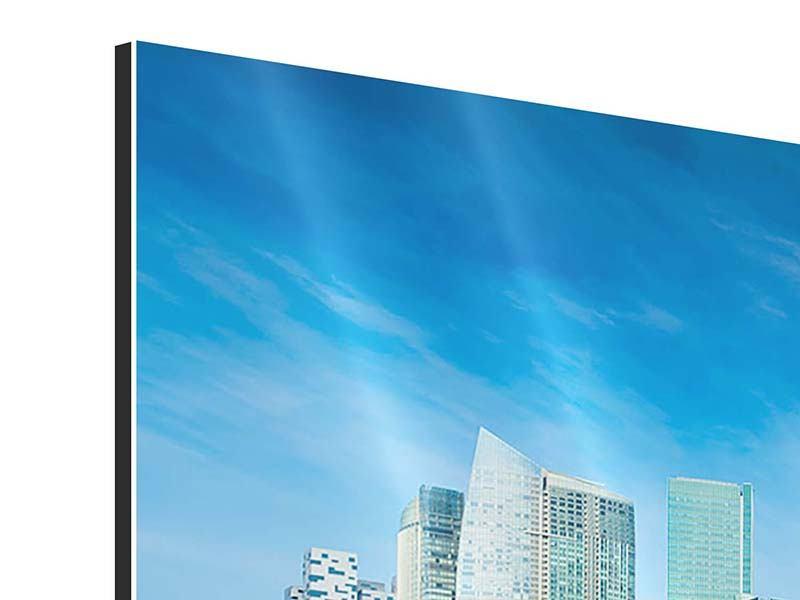Aluminiumbild 3-teilig modern Skyline Mexiko-Stadt