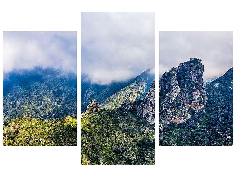 Aluminiumbild 3-teilig modern Der stille Berg