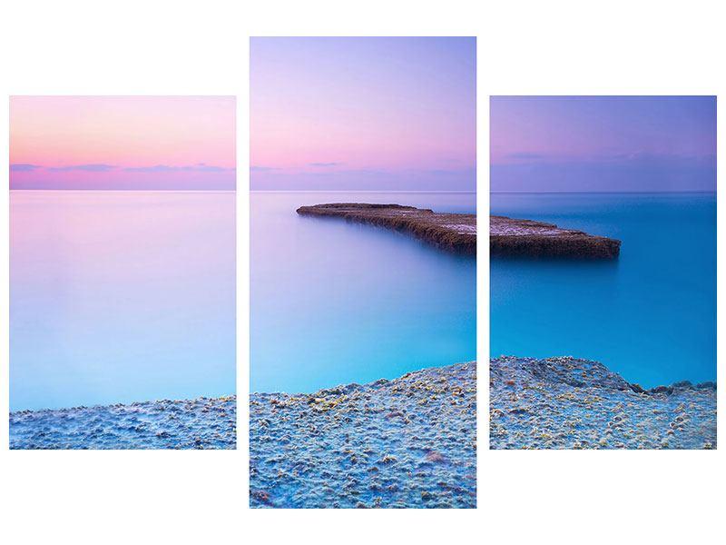 Aluminiumbild 3-teilig modern Unendlicher Ozean