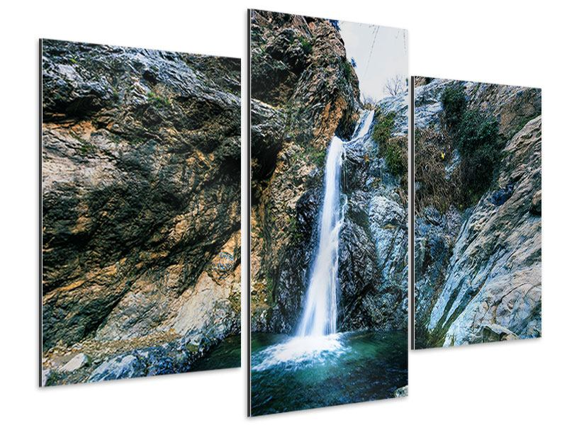 Aluminiumbild 3-teilig modern Bewegtes Wasser