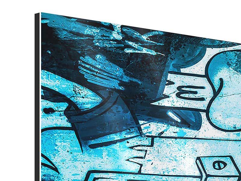 Aluminiumbild 3-teilig modern Graffiti