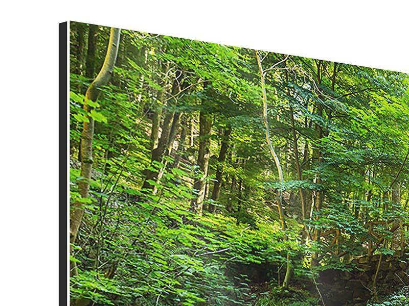 Aluminiumbild 3-teilig modern Wasserspiegelungen