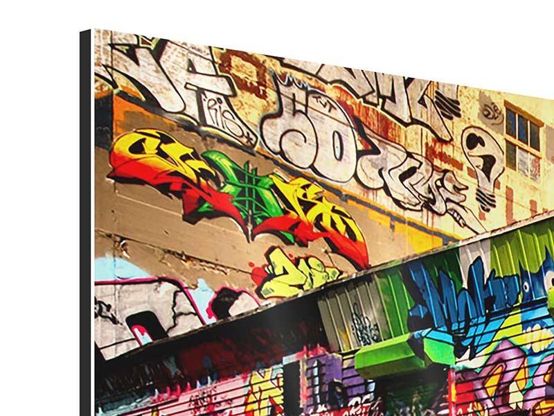 Aluminiumbild 3-teilig modern NY Graffiti