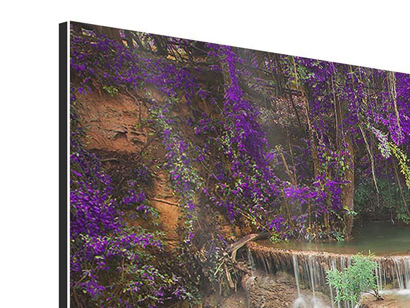 Aluminiumbild 3-teilig modern Garten Eden