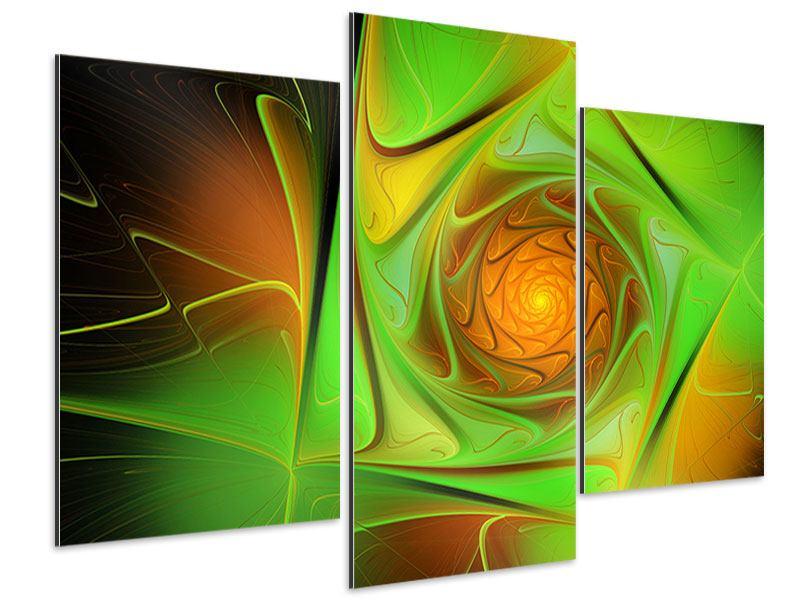 Aluminiumbild 3-teilig modern Abstraktionen