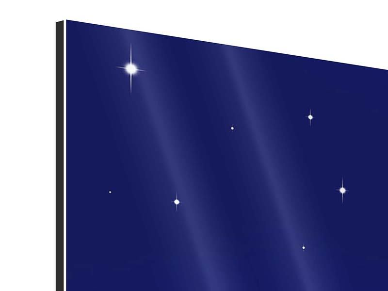 Aluminiumbild 3-teilig modern Der Nachthimmel