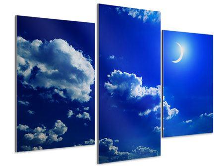 Aluminiumbild 3-teilig modern Der Mond