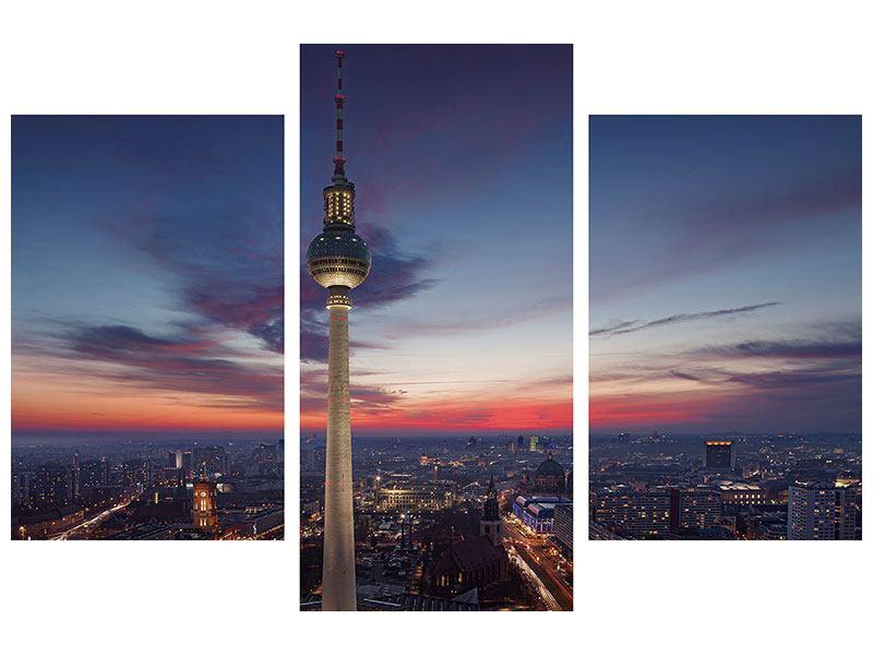Aluminiumbild 3-teilig modern Berlin