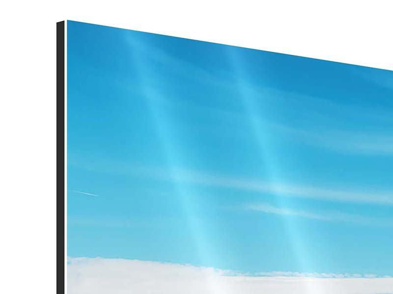 Aluminiumbild 3-teilig modern Alpenpanorama