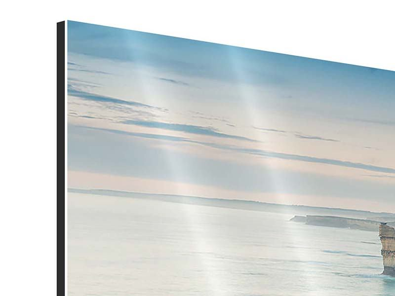 Aluminiumbild 3-teilig modern Felsklippen