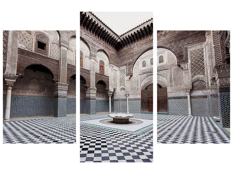 Aluminiumbild 3-teilig modern Orientalischer Hinterhof