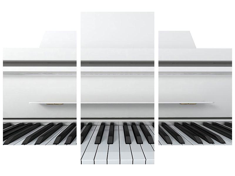 Aluminiumbild 3-teilig modern Weisser Flügel